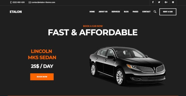 etalon feature rich wordpress theme