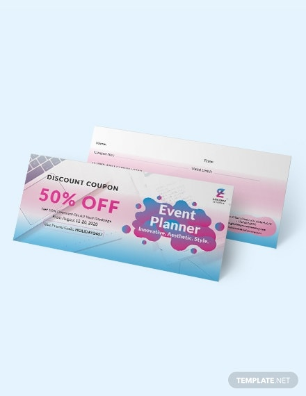 event planner coupon design