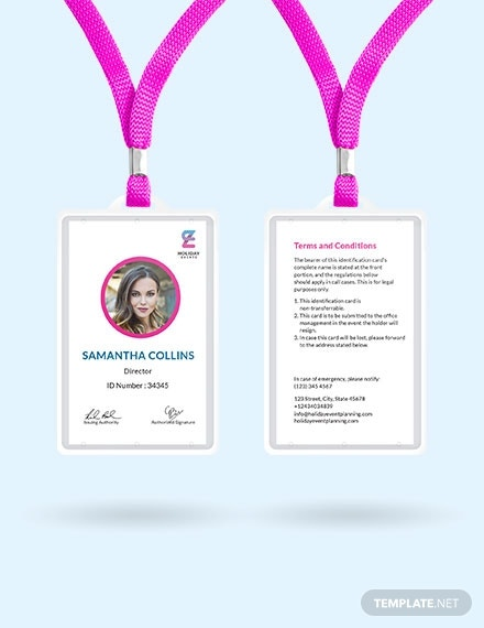 event planner id card