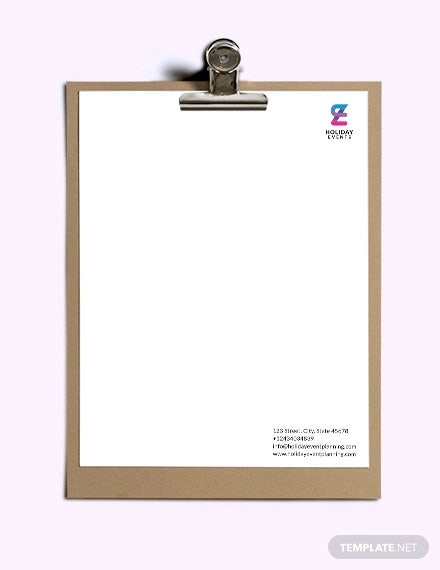 event planner letterhead template1