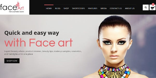 faceart woocommerce responsive wordpress theme