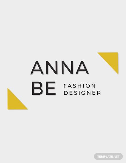 fashion designer logo template