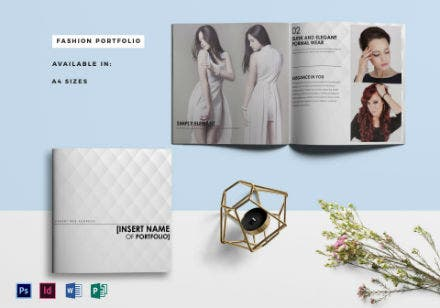 fashion portfolio product catalog template
