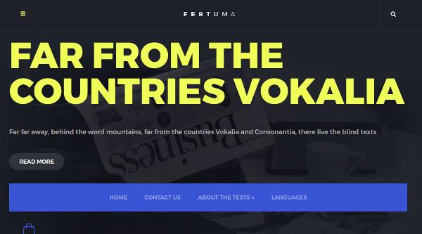 fertuma seo optimized business theme