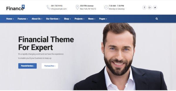 Financeplus – Powerful Pagebuilder WordPress Theme