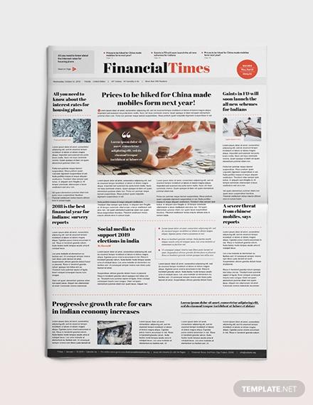 financial newspaper template1