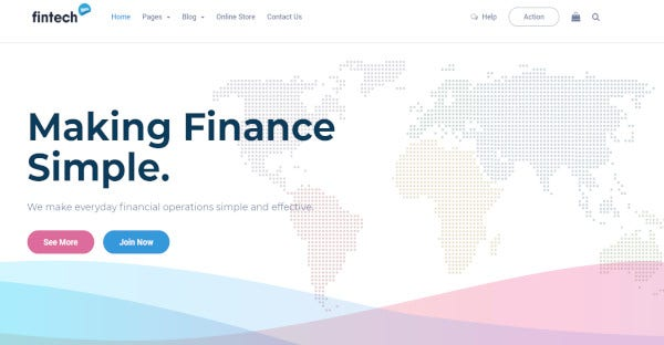 Fintech –Wp Seo Financial Technology Theme