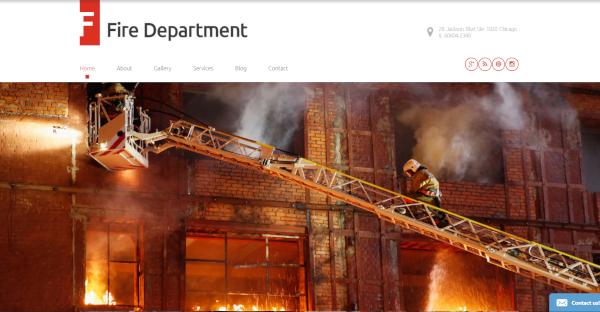 fire department – security wordpress theme