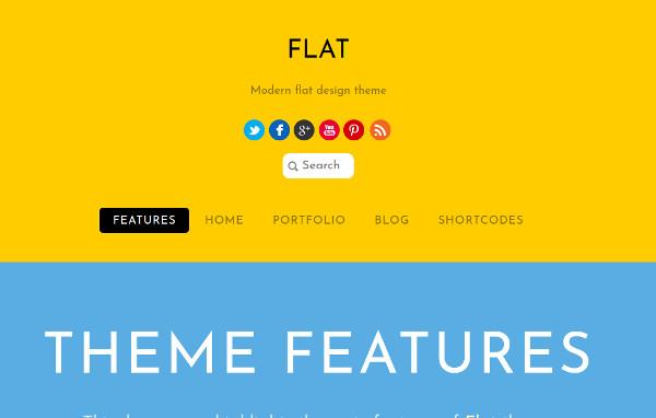 flat woocommerce support wordpress theme
