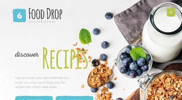 food drop revolution slider wordpress theme