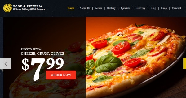 food pizzeria ultimate delivery wordpress theme