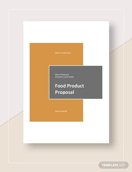 food product proposal template