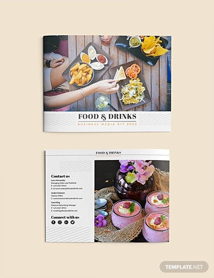 food and drink business media kit template