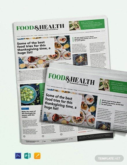 food and health newspaper template 440x570 1