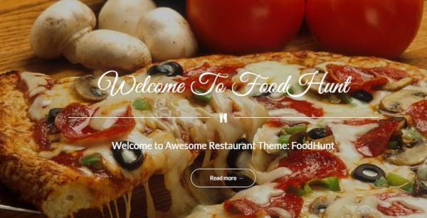 foodhunt restaurant wordpress theme