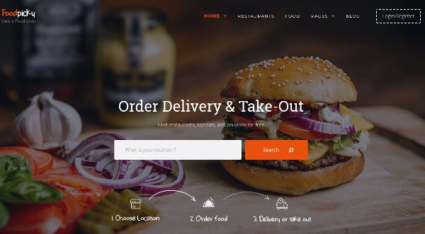 foodpicky contact form 7 plugin wordpress theme