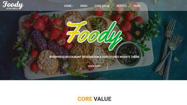 fooddy woocommerce ready wordpress theme