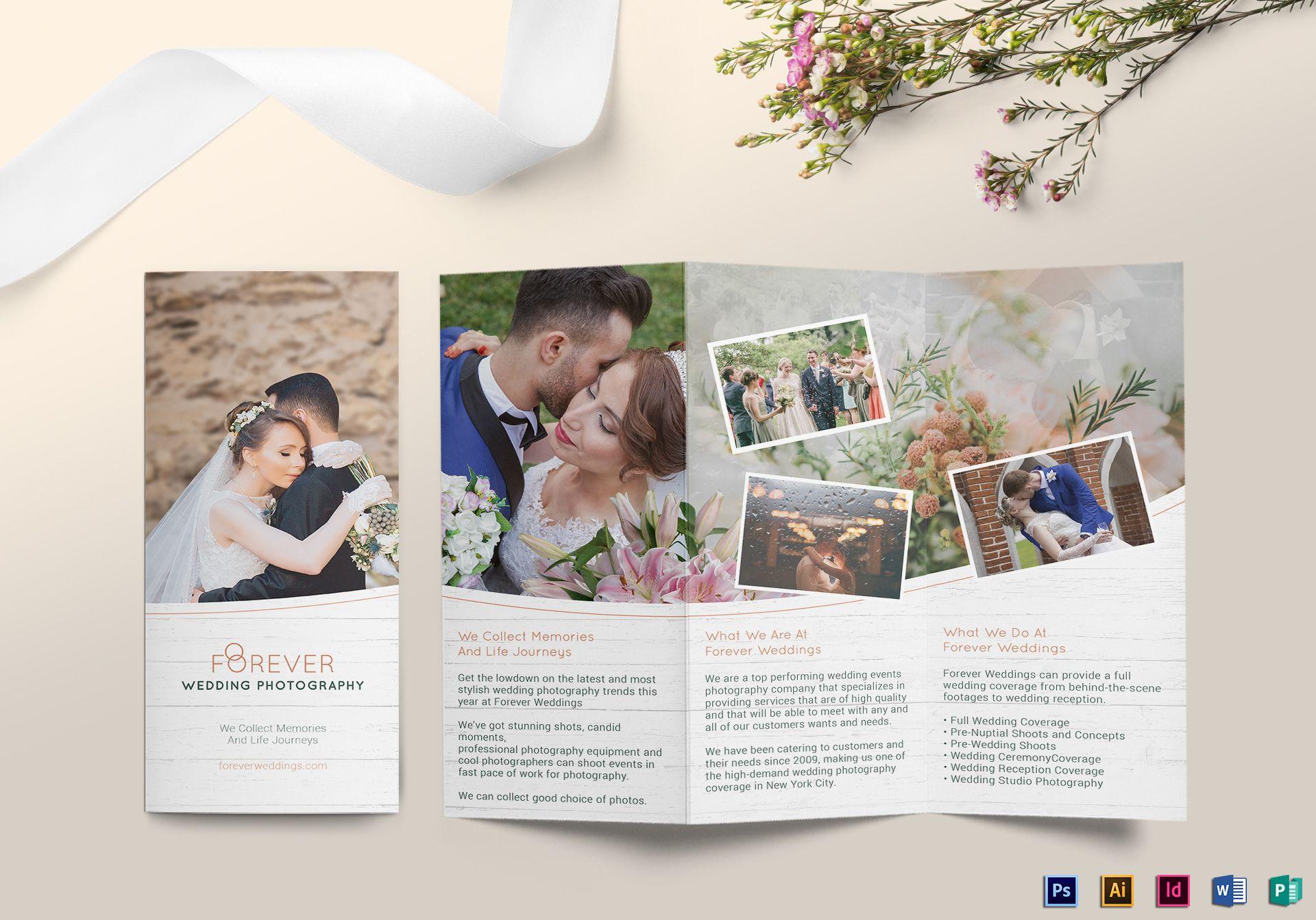 forever trifold wedding brochure design