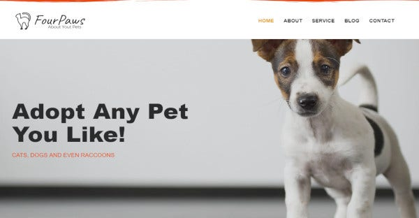 four paws pet services multipurpose classic elementor wordpress theme
