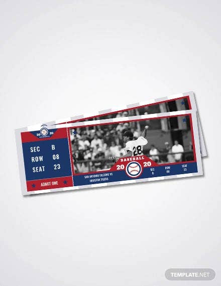 free baseball ticket template