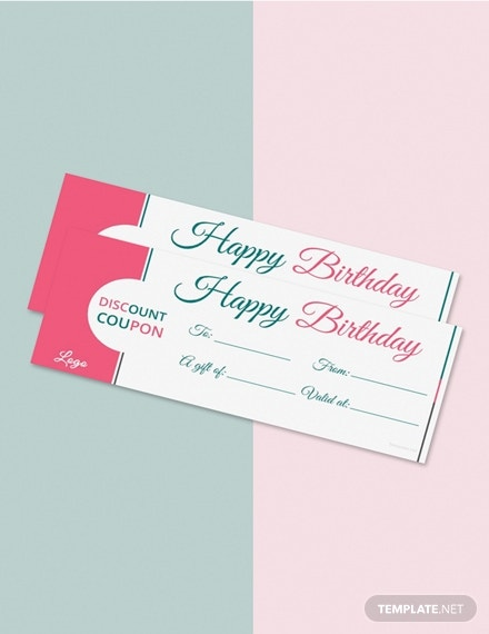 free blank birthday coupon template 1x