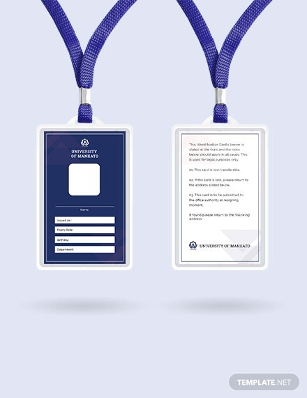 free blank id card template 1x