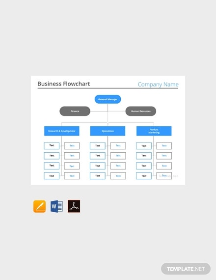free business flow chart template 440x570 11