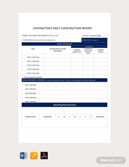 free daily construction report template 440x570 1