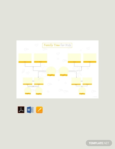 free family tree template for kids 440x570 1