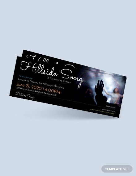 free fundraising ticket template 1x