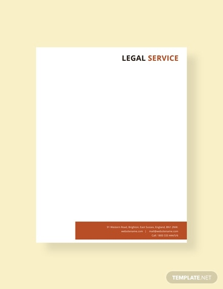 free legal services letterhead template