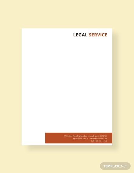 free legal services letterhead template
