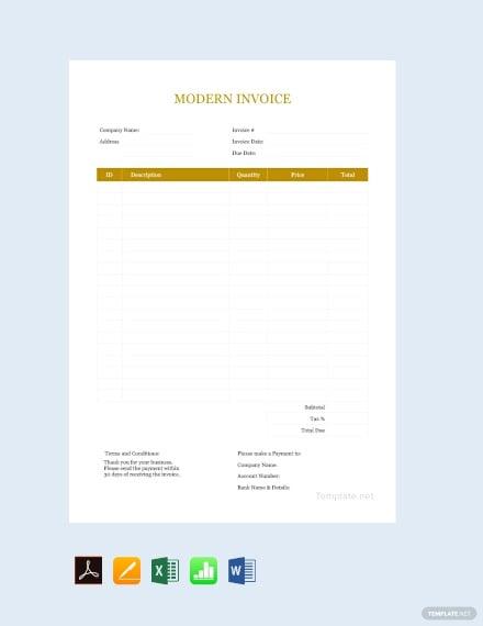 17 Modern Invoice Templates Pdf Word Free Premium Templates