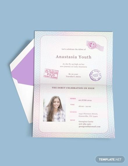 free passport debut invitation