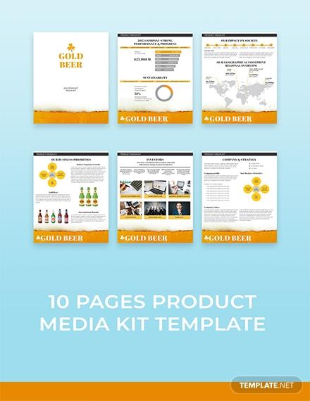 free product media kit template