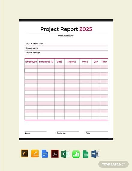 free project report template