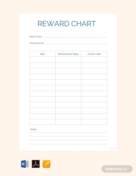 free reward chart template