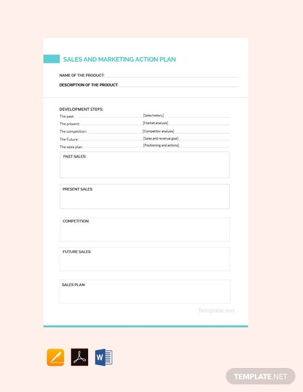 free sales and marketing action plan template 440x570 1