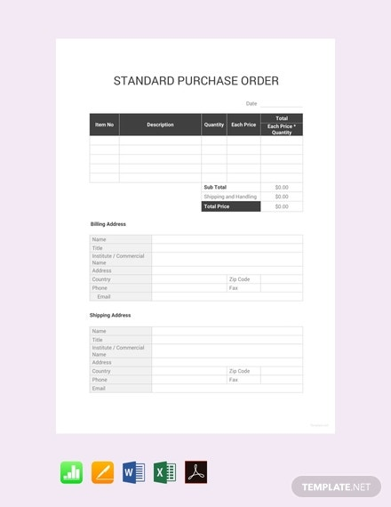 free standard purchase order template 440x570 1