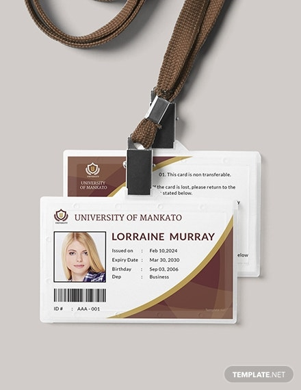 free student id card template 1x