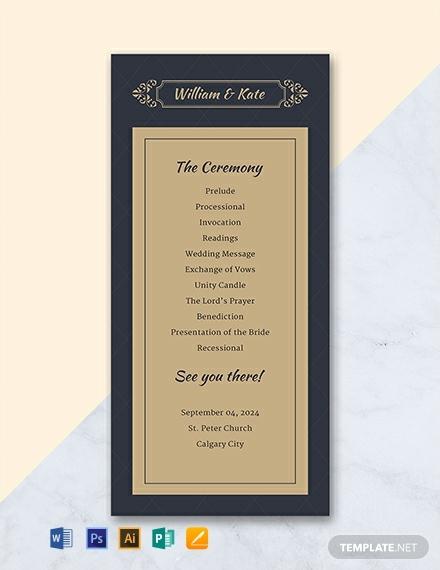 free traditional wedding program template 440x570 1