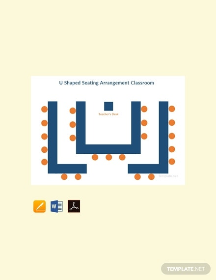free u shaped seating arrangement classroom template 440x570 11