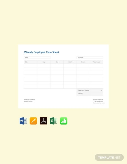 free weekly employee time sheet template