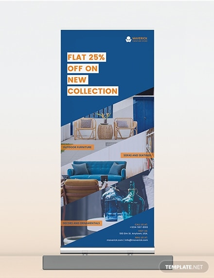 furniture collection roll up banner sample