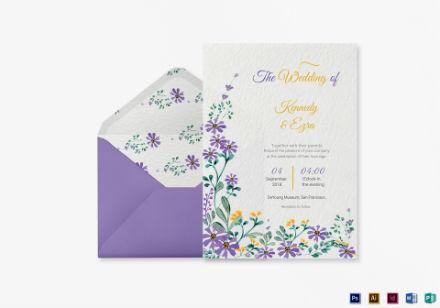 garden wedding invitation template1