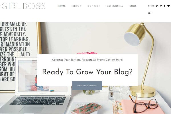 Girlboss WordPress Theme