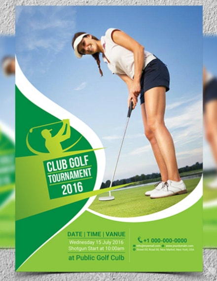 Golf Club Tournament Flyer Format