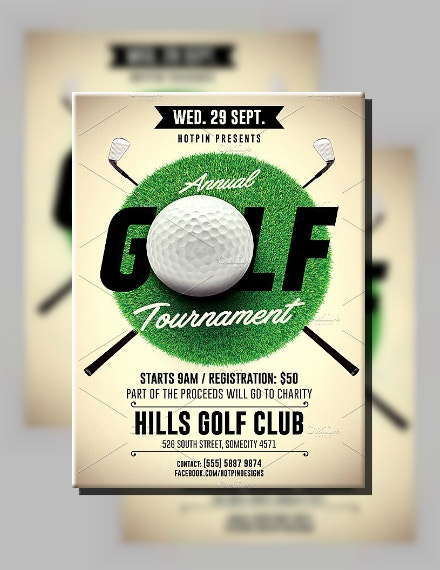 Golf Green Tournament Flyer Sample