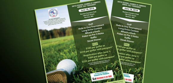 golf tournament flyers