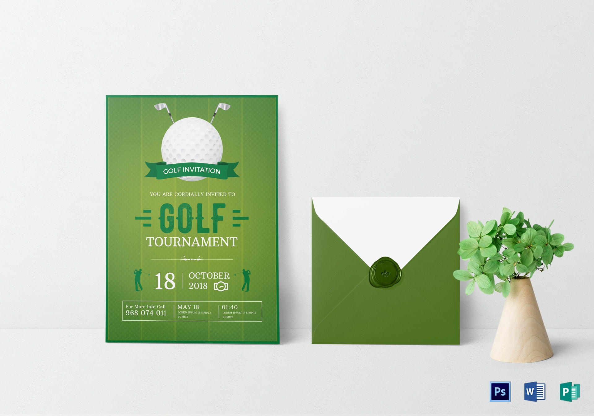 golf tournament invitation card template